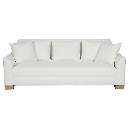 "Palermo 87"" Sofa, White"