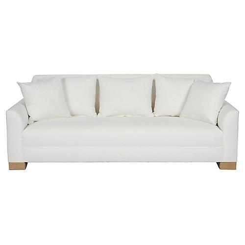 """Palermo 87"""" Sofa, White"""