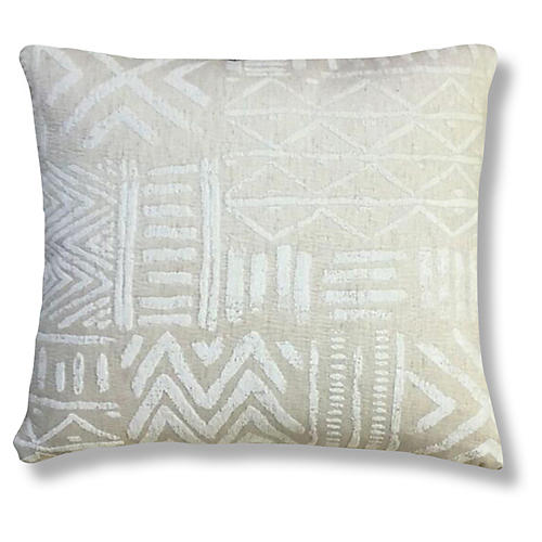 Bissau 20x20 Pillow, Ivory