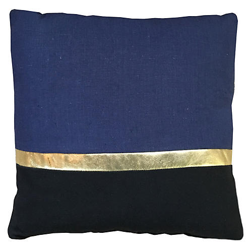 Color-Block 20x20 Pillow, Navy