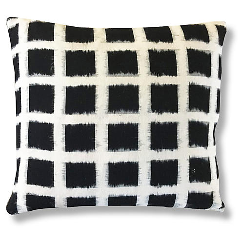 Kaam 20x20 Pillow, Black/Ivory