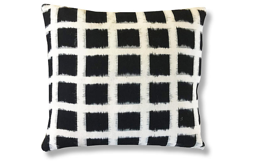 Kaam 20x20 Pillow - Black/Ivory - Kim Salmela