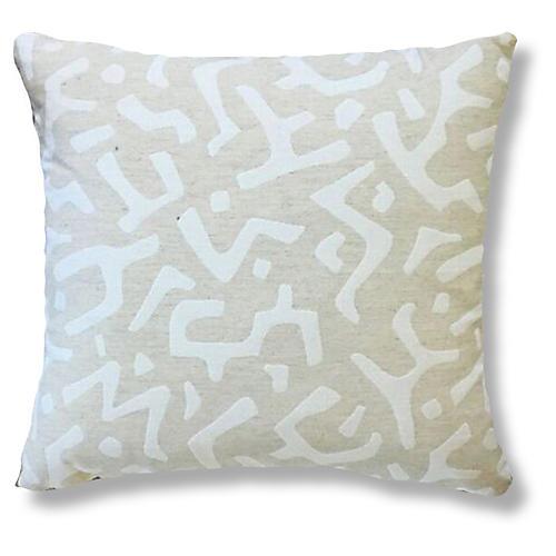 Nara 20x20 Pillow, Ivory