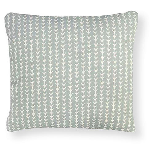 Vine 20x20 Outdoor Pillow, Mint