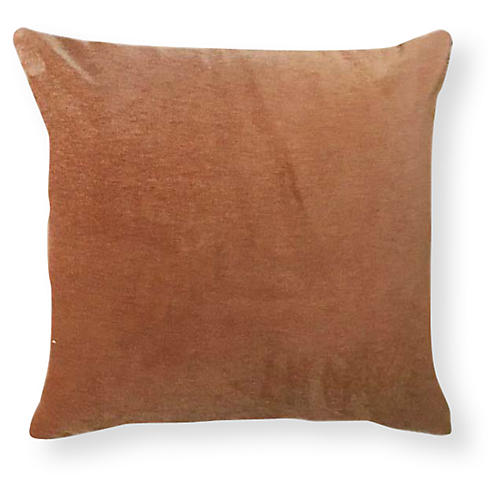 Velvet 20x20 Outdoor Pillow, Burnt Orange
