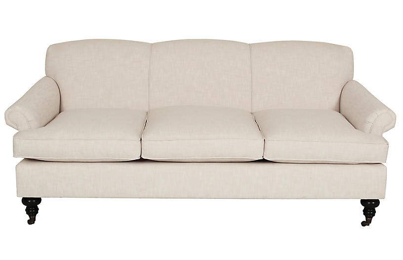 Joplin Sofa, Ivory Crypton