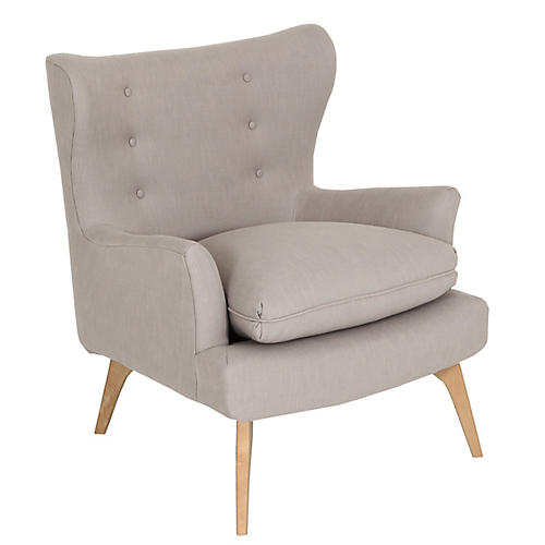 Sonja Accent Chair, Greige Crypton