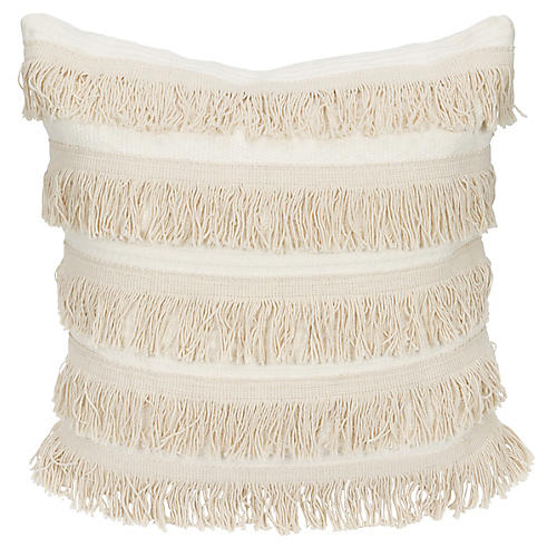 Cable-Knit 20x20 Pillow, Cream