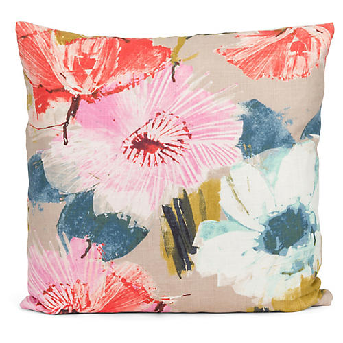 Kallie 22x22 Pillow, Beige/Multi