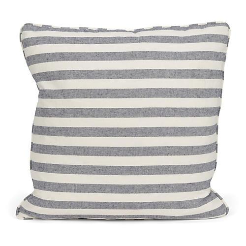 Watson Stripe 20x20 Pillow, Blue