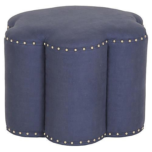 Kate Ottoman, Navy Linen
