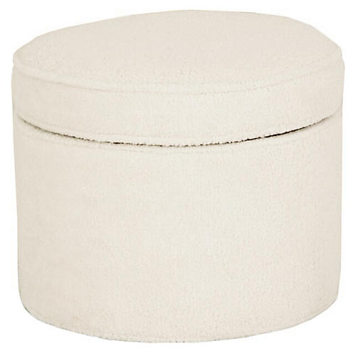 Dillon Storage Ottoman, Cream