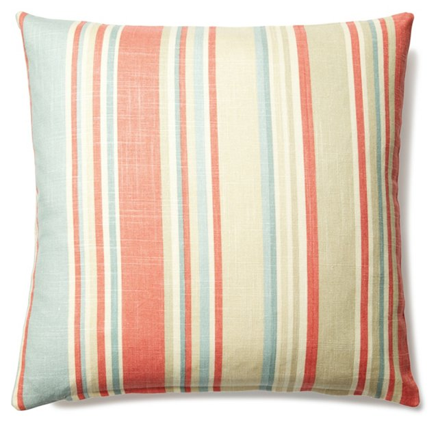 Leo 20x20 Linen-Blended Pillow, Multi