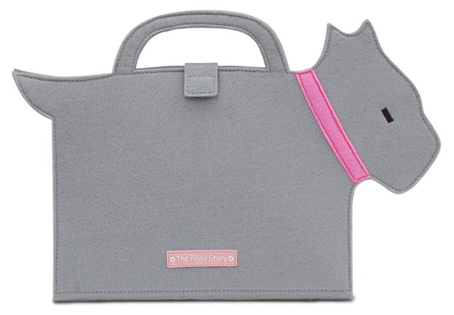 Die-cut Ribbon Scottie ArtFolio, Gray