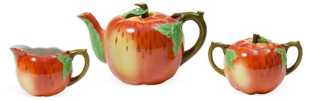 Apple Tea Set, 3 Pcs.