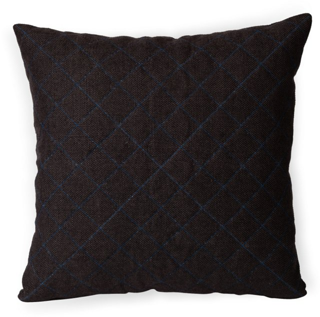 Quilted Pillow w/ Gray Velvet