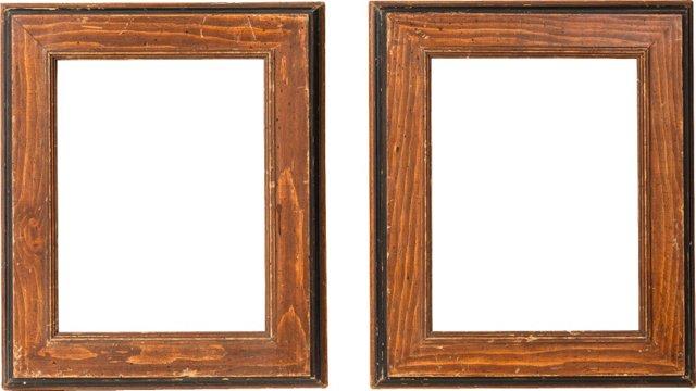 Victorian Wood Frames, Pair