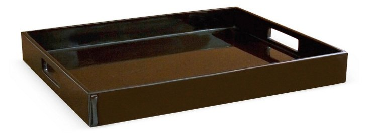 Lacquer Tray 14x17, Chocolate