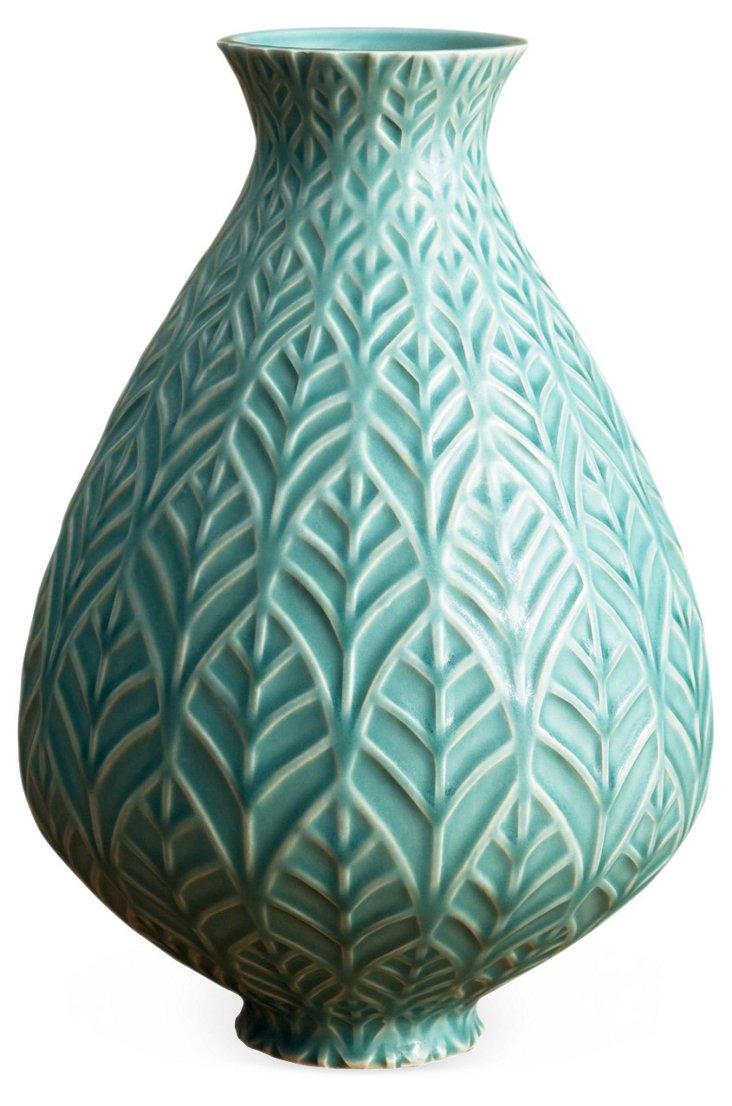 """7"""" Thistle Vase, Jade"""