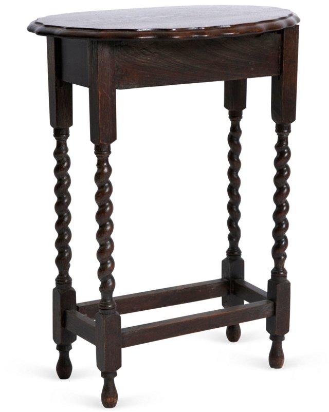 C. 1930 Barley-Twist Side Table