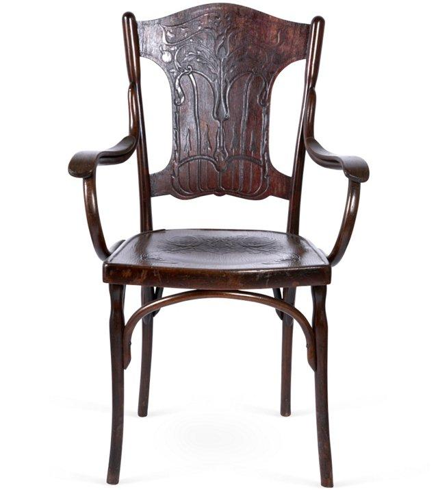 C. 1880 Viennese Bentwood Armchair