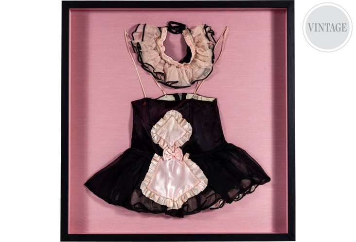 Framed French Maid Costume