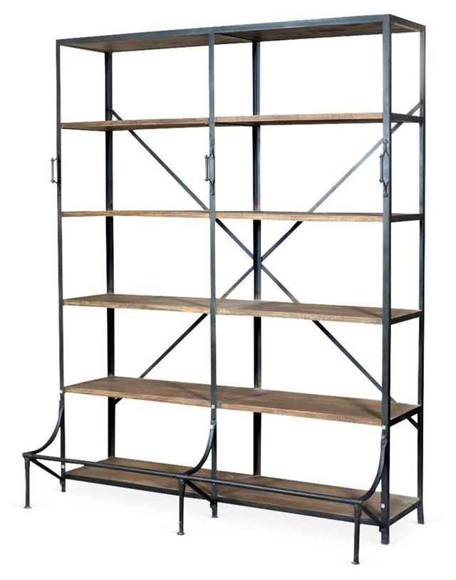 Clara Industrial Bookshelf