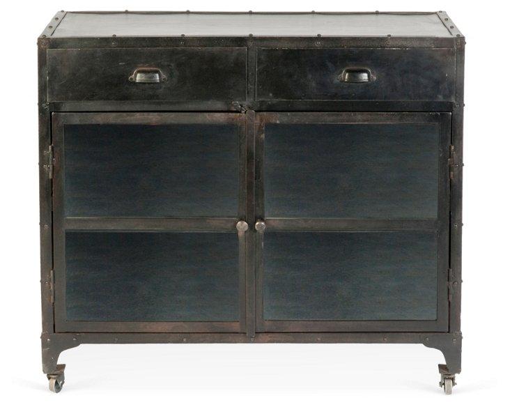 Ashley Industrial Sideboard, Black