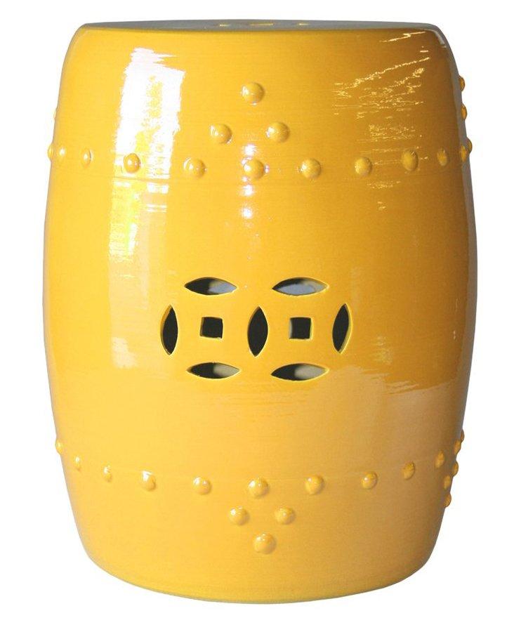 Kelly Garden Stool, Yellow