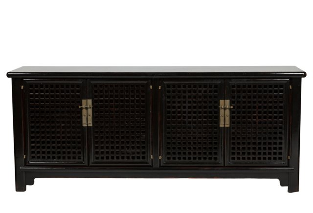 Gould Lattice Sideboard, Black