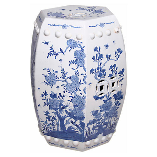 Floral Garden Stool Blue/White  sc 1 st  One Kings Lane & Garden Stools - Living Room - Furniture | One Kings Lane islam-shia.org