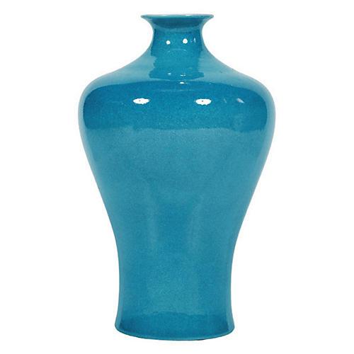 """17"""" Prunus Vase, Turquoise"""