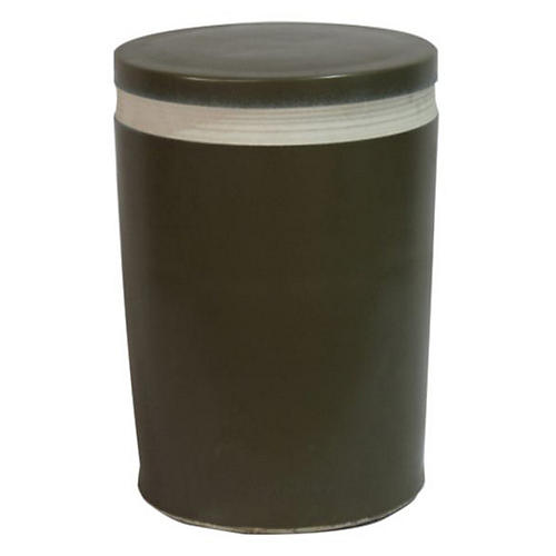 Cylindrical Garden Stool, Black