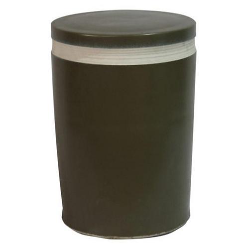 Cylindrical Garden Stool, Black