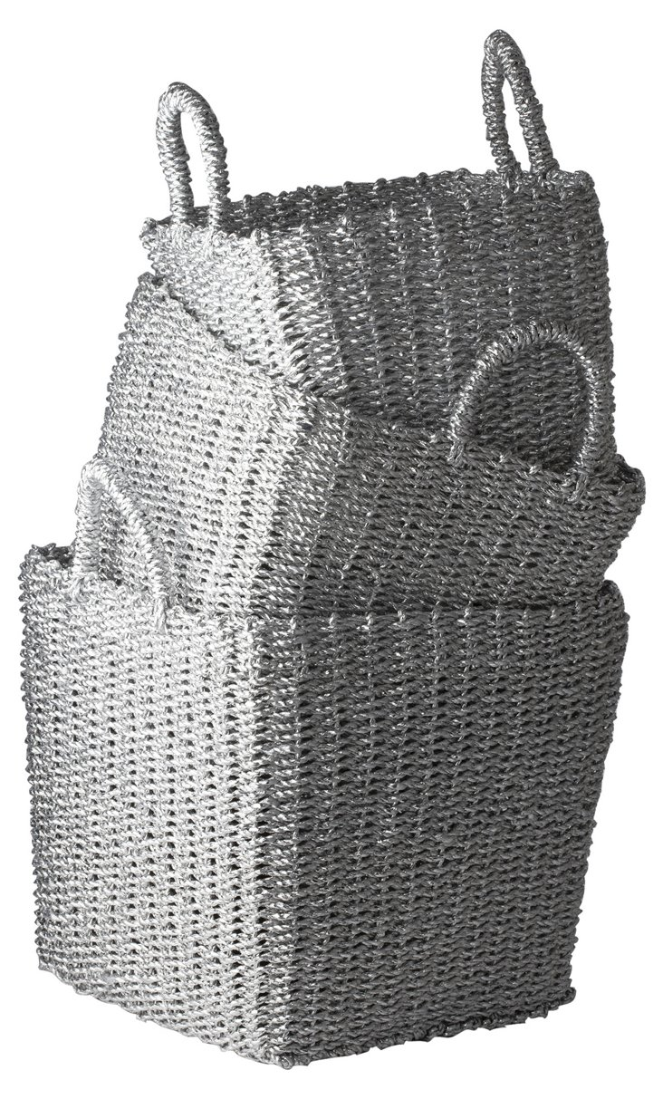 S/3 Nested Recycled Baskets