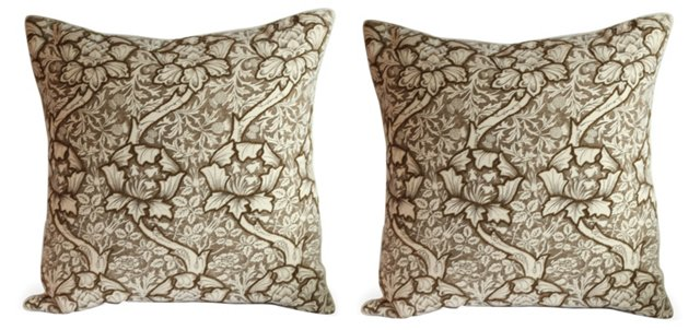 Brown Thistle Pillow