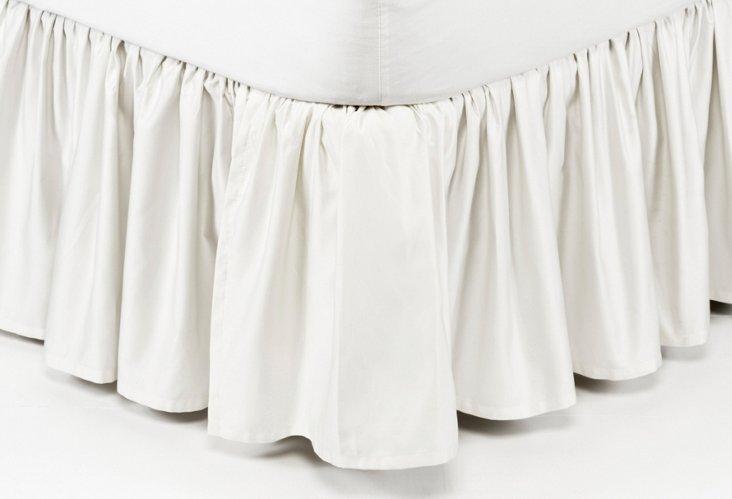 Gathered Bed Skirt, White