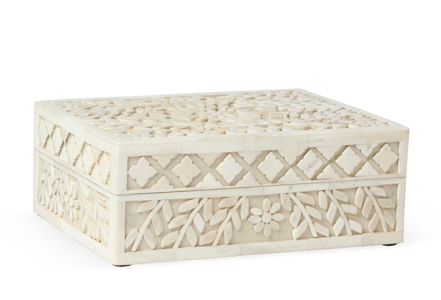 Ivory Bone Box