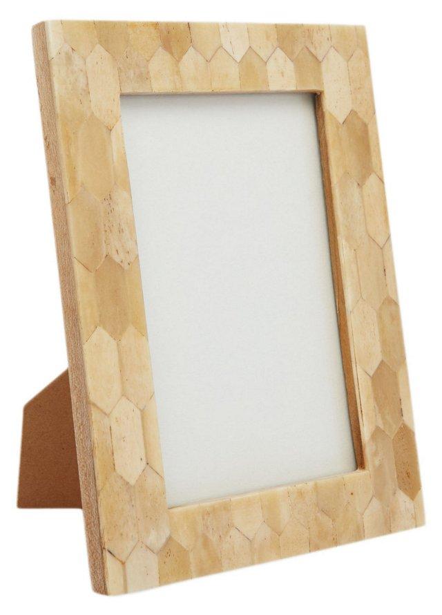 Honeycomb Bone Frame, 4x6, Tan