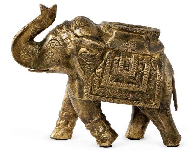 """6"""" Brass Elephant"""