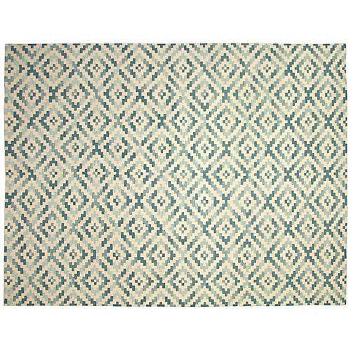 "7'5""x9'7"" Aapo Flat-Weave Rug, Blue"