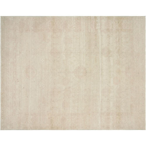 "9'x11'6"" Egyptian Sultanabad Rug, Beige/Rose"