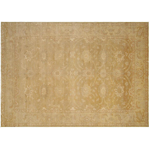 "7'11x11'4"" Egyptian Sultanabad Rug, Rust/Multi"