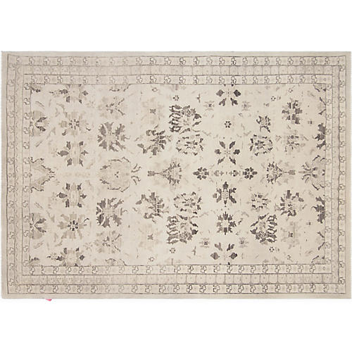 "5'6""x7'8"" Egyptian Oushak Rug, Cream/Brown"