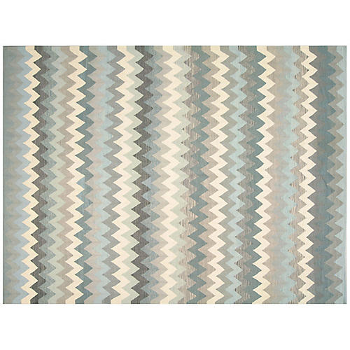 "10'2""x13'5"" Egyptian Kilim, Gray/Multi"
