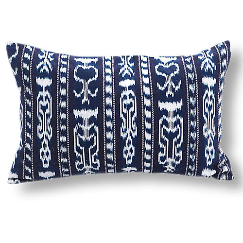 Xela 13x20 Pillow, Midnight Indigo