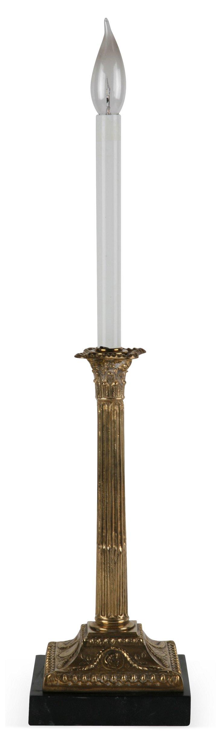 Brass & Oak Lamp