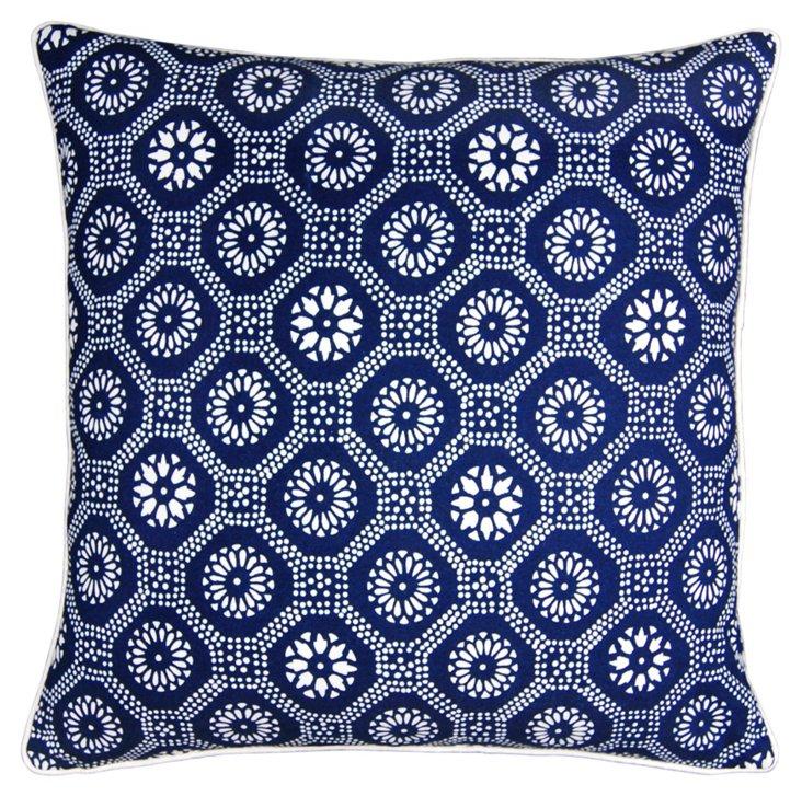 Bold 20x20 Cotton Pillow, Indigo