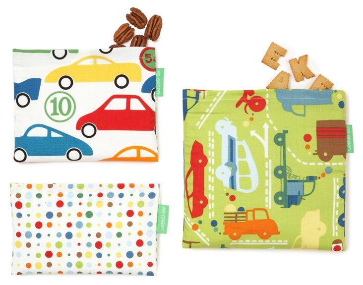 3-Piece Lunch Bag Set, Beep Beep