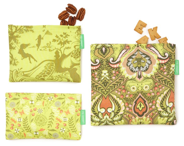 3-Piece Lunch Bag Set, Secret Garden